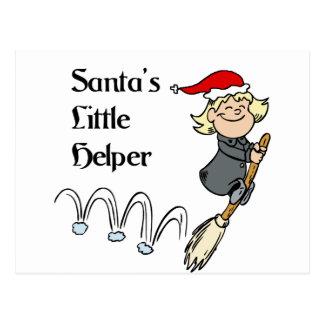 Santa little helper postcard