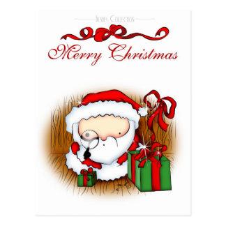 Santa Looking Postcard