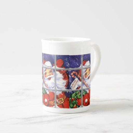 Santa Looking Through Window Specialty Mugs Tea Cup Zazzle