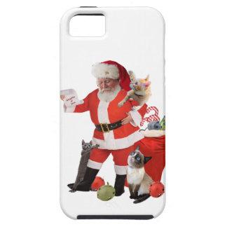 Santa Looks for Kitten's Names iPhone 5 Cases
