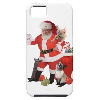 Santa Looks for Kitten's Names iPhone 5 Cover