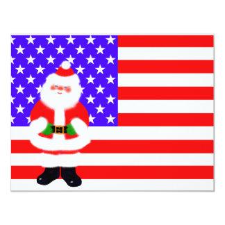 Santa los E.E.U.U. Invitación 10,8 X 13,9 Cm