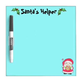 Santa Loves Cookies Dry Erase Board