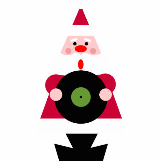 Santa Loves Vinyl Ornament