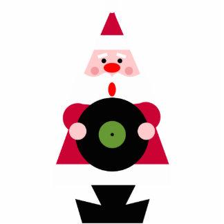 Santa Loves Vinyl Ornament Acrylic Cut Outs