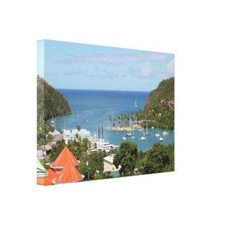 Santa Lucía de la bahía de Marigot Impresiones De Lienzo