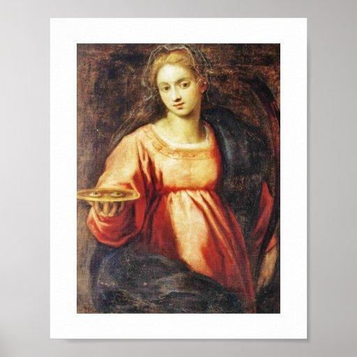 Santa Lucía de SUECIA y de ITALIA Poster