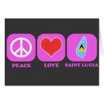 Santa Lucía del amor de la paz Tarjetas