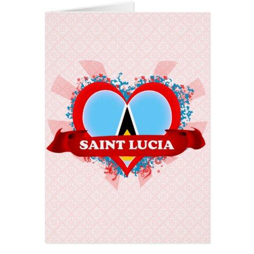 Santa Lucía del amor del vintage I Felicitacion