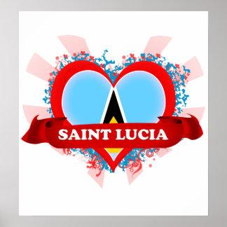 Santa Lucía del amor del vintage I Posters