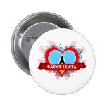 Santa Lucía del amor del vintage I Pin