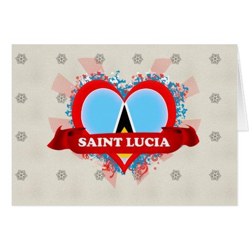 Santa Lucía del amor del vintage I Tarjeta De Felicitación