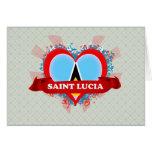 Santa Lucía del amor del vintage I Tarjetón