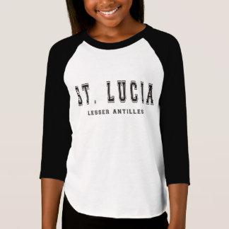Santa Lucía pocas Antillas Playera