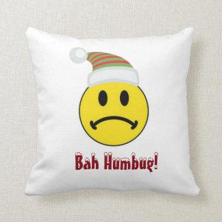 Santa Mad Face Throw Pillow