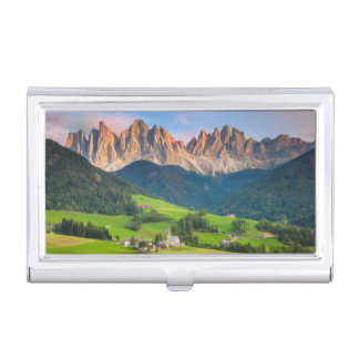 Santa Maddelena and The Dolomites in Val di Funes Business Card Case