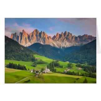 Santa Maddelena and The Dolomites in Val di Funes Card
