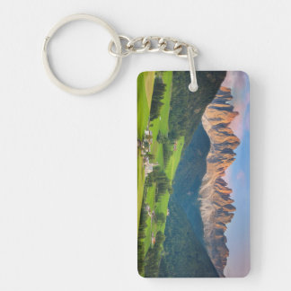 Santa Maddelena and The Dolomites in Val di Funes Acrylic Key Chains