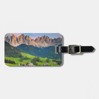 Santa Maddelena and The Dolomites in Val di Funes Luggage Tag
