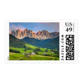 Santa Maddelena and The Dolomites in Val di Funes Stamps