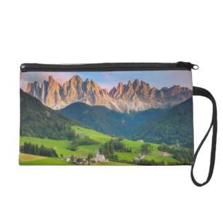 Santa Maddelena and The Dolomites in Val di Funes Wristlet