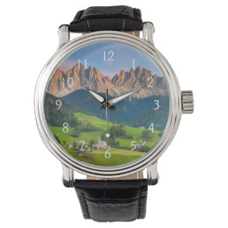 Santa Maddelena and The Dolomites in Val di Funes Wristwatch