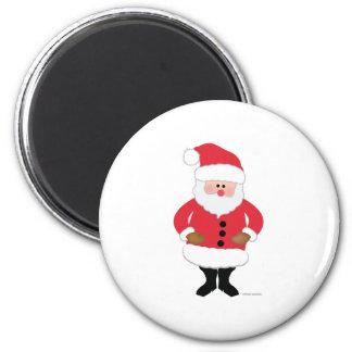 Santa 2 Inch Round Magnet