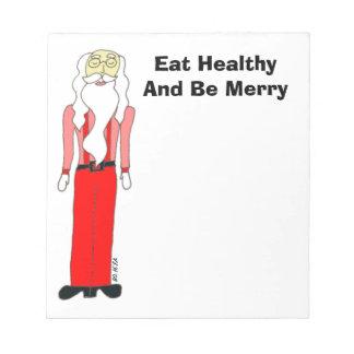 Santa magro - coma sano y sea feliz bloc de notas