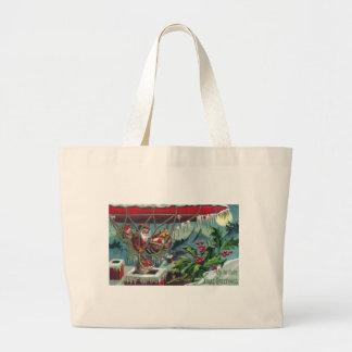 Santa Makes Deliveries From Dirigible Canvas Bag