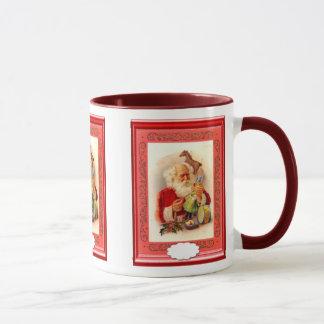 Santa making toys mug