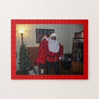Santa Mama on Fresh Canvas Red CC0000 Puzzle