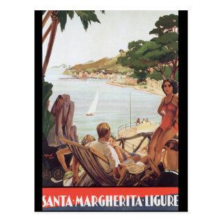 Santa Margherita Ligure Vintage Travel Poster Postcard