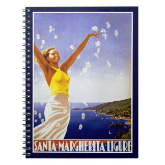Santa Margherita Ligure with Daisies Notebook