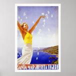 """Santa Margherita, Liguria"" Vintage Travel Poster"