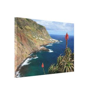 Santa Maria Azores coastal Canvas Print