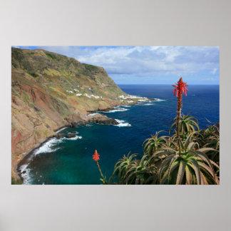 Santa Maria Azores coastal Poster
