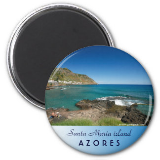 Santa Maria - Azores 2 Inch Round Magnet