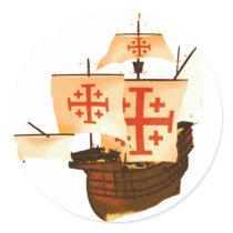 Santa Maria Classic Round Sticker