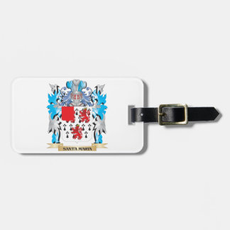 Santa-Maria Coat of Arms - Family Crest Tags For Bags
