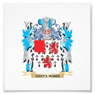 Santa-Maria Coat of Arms - Family Crest Photo Print