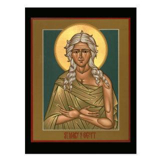 Santa María de la tarjeta del rezo de Egipto Postal
