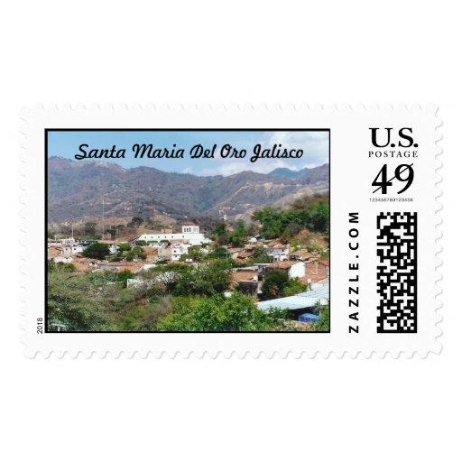 Santa Maria Del Oro Jalisco Postage Stamp