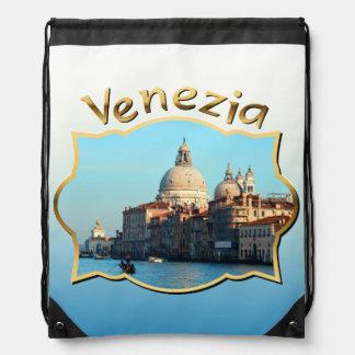 Santa Maria della Salute Basilica Drawstring Backpack