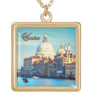 Santa Maria della Salute Basilica Gold Plated Necklace