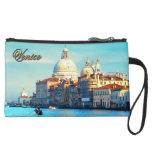 Santa Maria della Salute Basilica Suede Wristlet Wallet