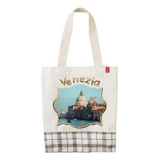 Santa Maria della Salute Basilica Zazzle HEART Tote Bag