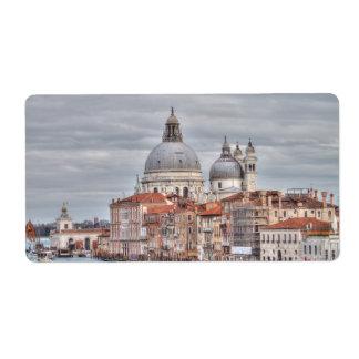 Santa Maria della Salute, Venice Italy Label
