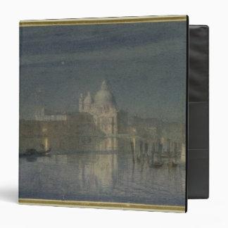 Santa Maria Della Salute, Venice, Moonlight, 1863 3 Ring Binder