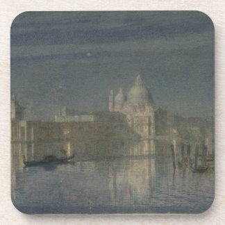Santa Maria Della Salute, Venice, Moonlight, 1863 Beverage Coaster