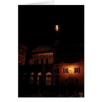 Santa María en Trastevere en la noche Tarjeta De Felicitación